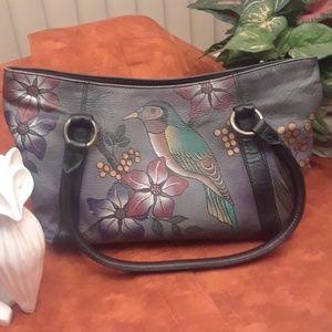 Hand painted Anuscchka Tote Handbag